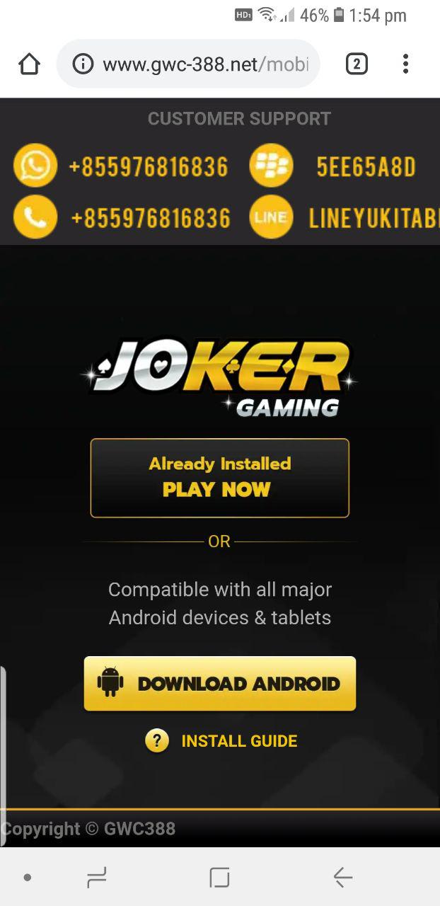 login-joker123-android