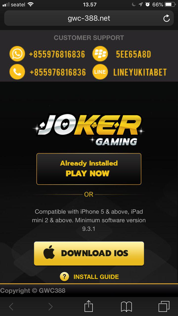 login-joker123-ios