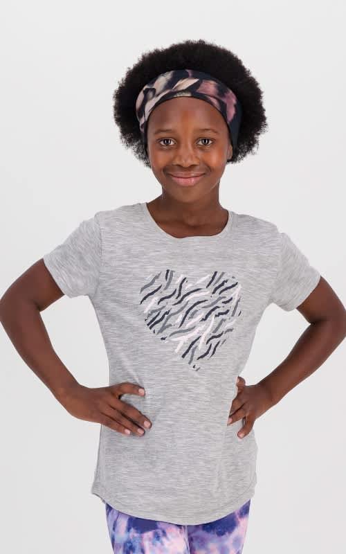 Girls Zebra Short Sleeve Tee