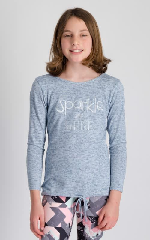 Girls Sparkle Long Sleeve