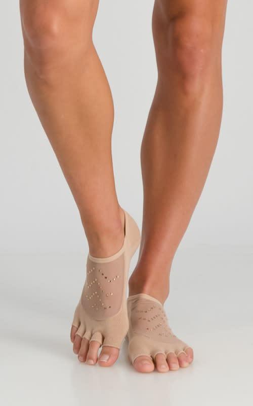 Diamante Open-Toe Yoga Sock