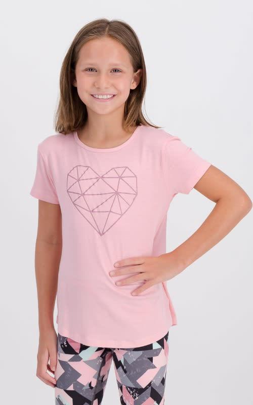 Girls Geo-Heart Short Sleeve Tee