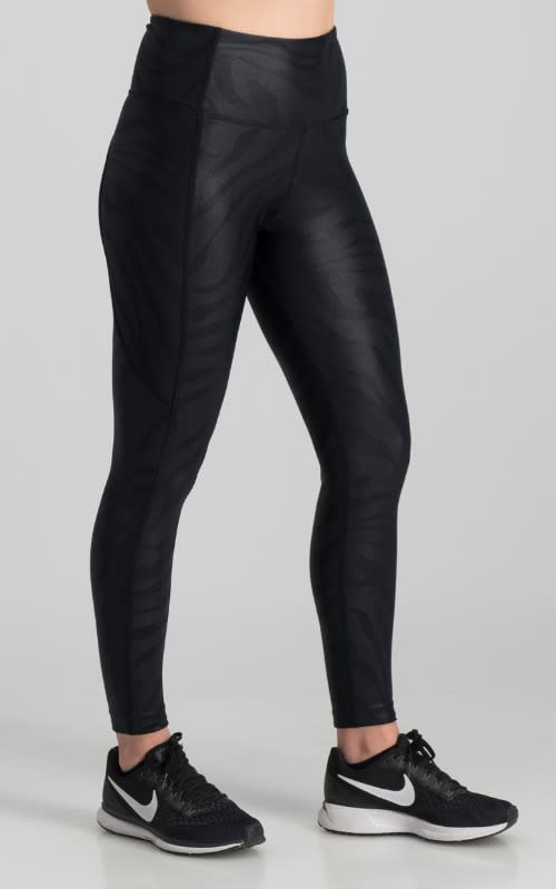 Darkdiva 7/8 Run Tights - Black