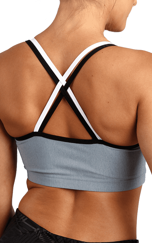 Strappy Back Crop Sports Bra  - default
