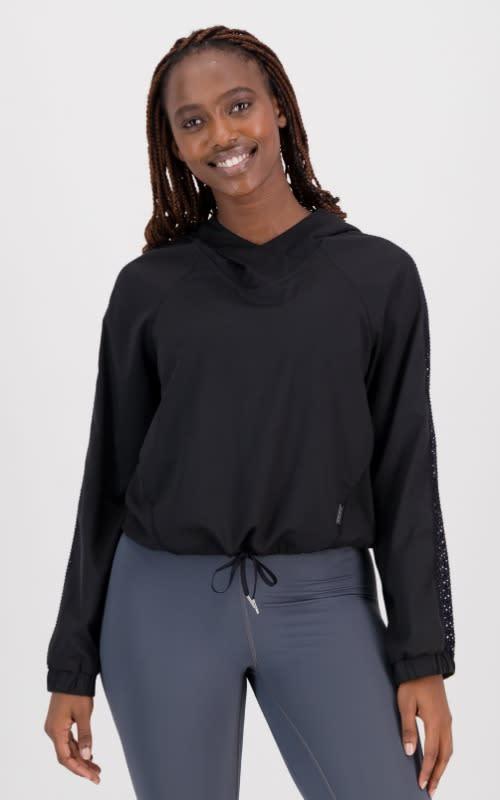 Ventilate Woven Long Sleeve Hoodie - default