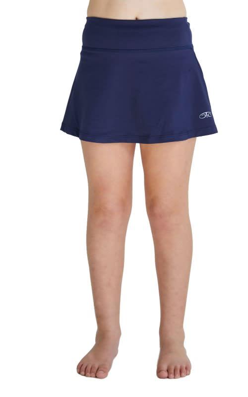 Girls Essential Tennis Skort - Navy