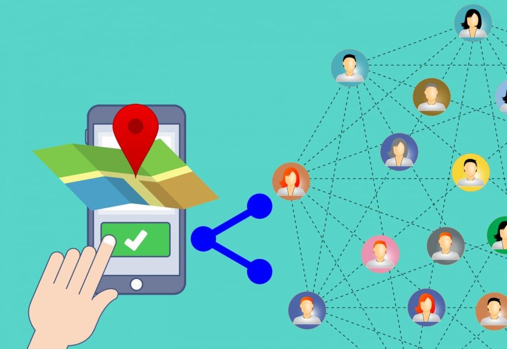 Peer to peer - Location map téléphone partage - Multiproduit - 1920x1321 - JPG