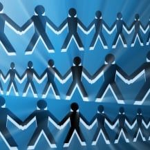 Groupe de personnes assurance collaborative