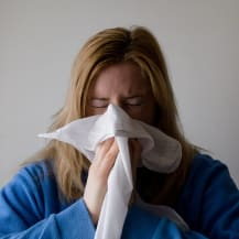 Personne malade en hiver