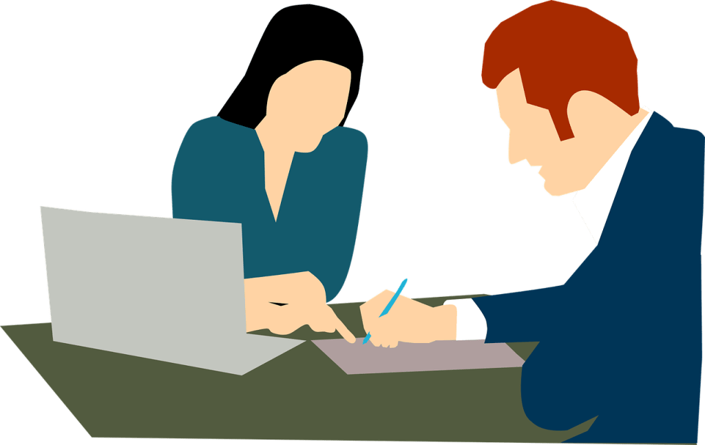 Contrat prestation freelance - signature contrat homme femme - Multiproduit - 1280x808 - PNG