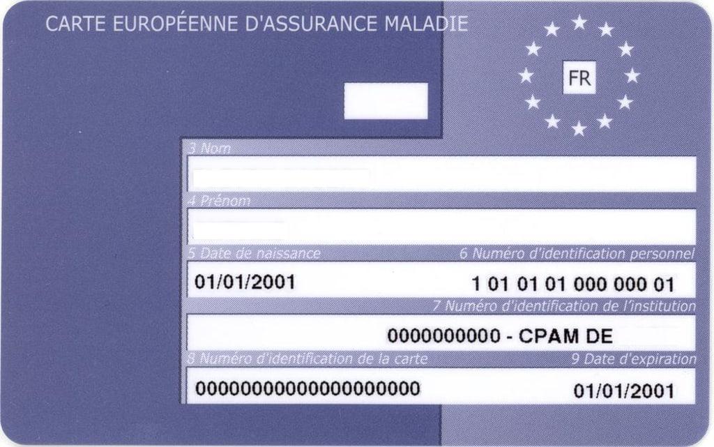 Carte européenne d'assurance maladie - carte européenne CEAM - Santé - 1000x626 - JPG