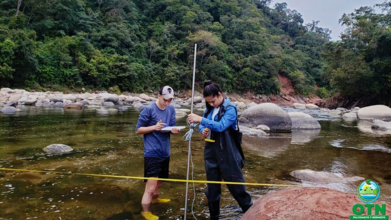 La Ing. De Recursos Hídricos de la OTN-PB,  realizó el monitoreo de Cantidad Hídrica en el Distrito Tariquia, Municipio de Padcaya