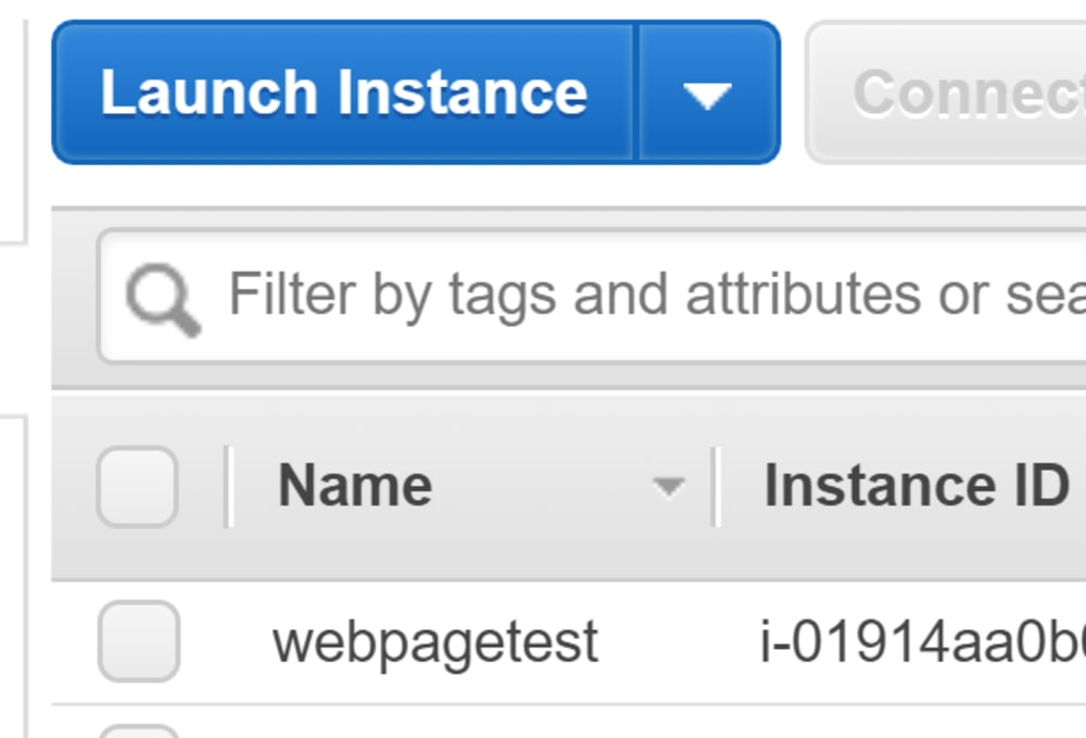 EC2 webpagetest instances - named!