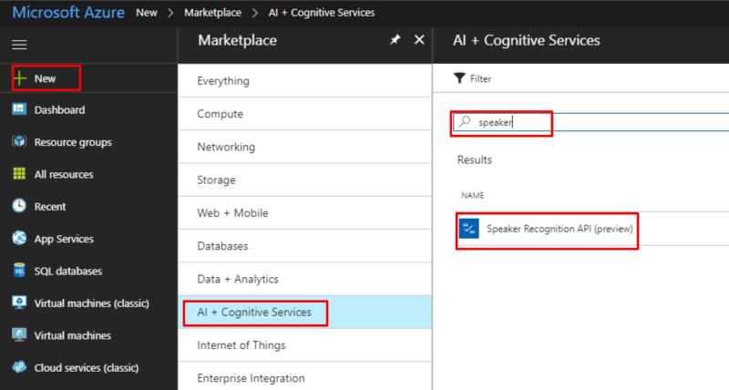 Cognitive Services - Setup