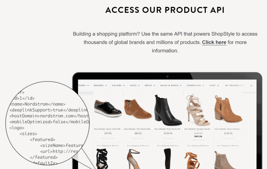 ShopStyle Product API
