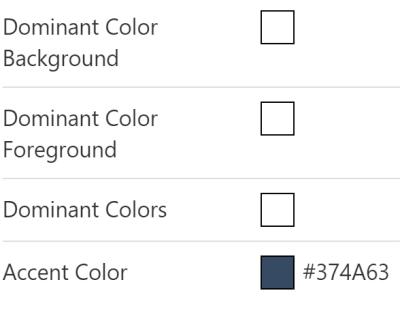 Colour breakdown