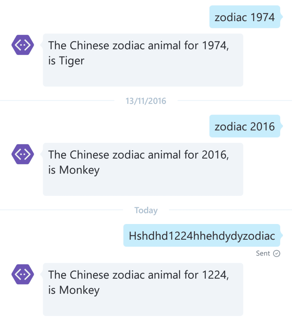 Zodiac botframework