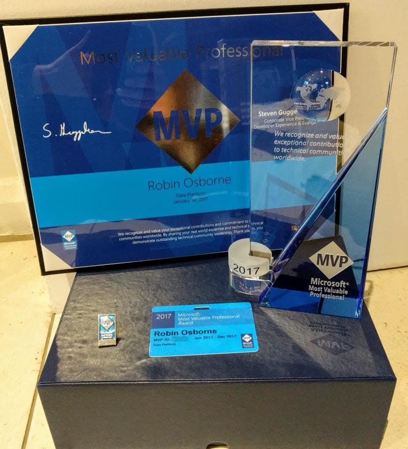 MVP Award 2017 contents