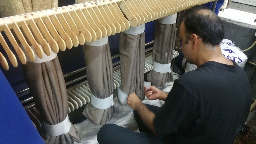 Special Curtain Hanging Equipment at 123 Cleaners for all Curtains