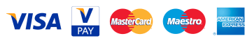Payment methods: Visa VisaPay Mastercard Maestro AmericanExpress