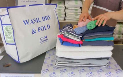 Wash, Dry and Fold Services from 123 Cleaners in London