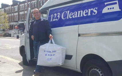 Wash, Dry and Fold Collection and Delivery Services from 123 Cleaners