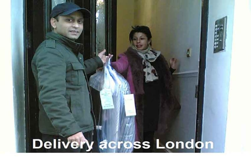 Shirt laundry pick up and delivery service, London