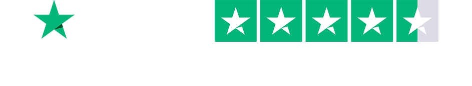 Trustpilot review rating, showing 5 stars.