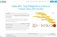 Test éligibilité BPI : Bourse French Tech, AFI et ADI