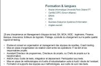 Test manager, Coach, Consultant qualité logiciel méthodes et outils
