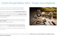 Test d'éligibilité CIMA - Crédit impôt Métiers d'Art