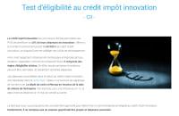 Test d'éligibilité CII - Crédit Impôt Innovation