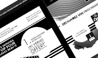 Création d'emailings pour Sephora