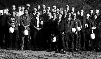 Photo pour EDF Lorraine des employés de la centrale thermique de Blénod