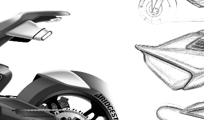Creative sketchs // Electric solution DAMON Moto