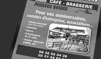 Flyer café brasserie