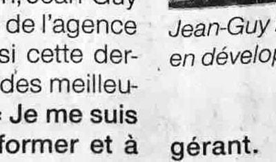Article Ouest-France du 17-11-2020 - Jean Guy Pichon