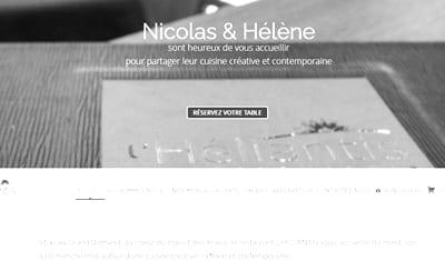 SITE WEB // restaurant l'Héliantis