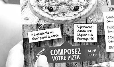 Flyers pour une Pizzeria