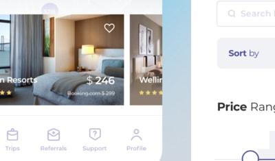 Exemple de design d'application mobile
