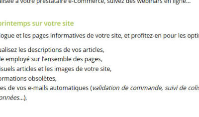 // Article de blog // Check-list du e-commerçant pendant le confinement