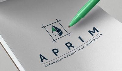 Création de l'identité visuelle pour la société de Promotion Immobilière APRIM