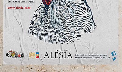 Affiche exposition temporaire COQ ! pour le MuséoParc Alésia, 3 propositions