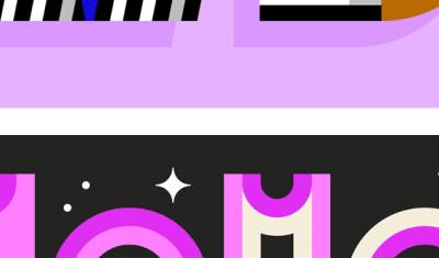 Lettrages - illustrations vectorielles