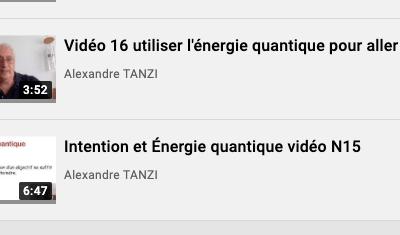 Vidéos 13 à 18 sur l'énergie quantique