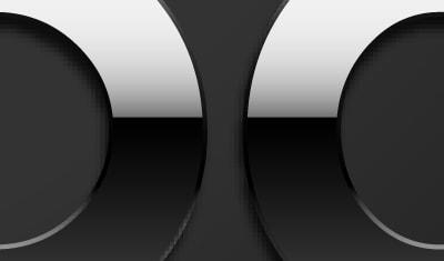 Exemple de logo chromé