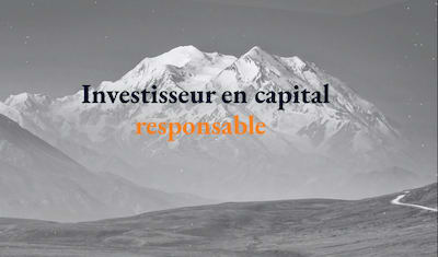 Site vitrine One Page pour investisseurs