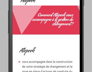 Site web Atepeek version mobile