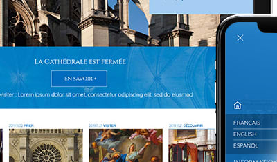 Site et application Notre Dame de Paris pour Orange Business Services