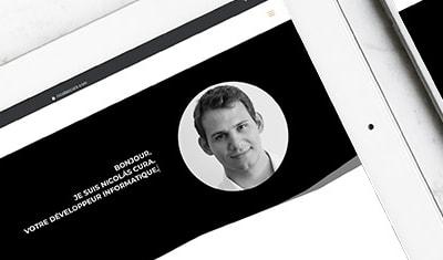 Site internet Nicolas Cura - Développeur informatique (Site en 3 langues)